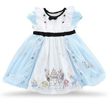 High-grade New girl Dress For princess dress birthday party dress 100% cotton Ball Gown Girls Clothes for Christmas wear