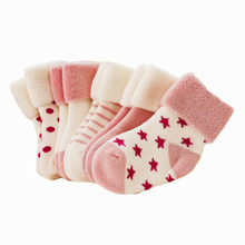 5 pairs/lot Baby Infant Cotton Socks children fashion sports Socks Girl Boy Autumn/Winter Thicken Keep warm Kids cheap Socks CN(China)
