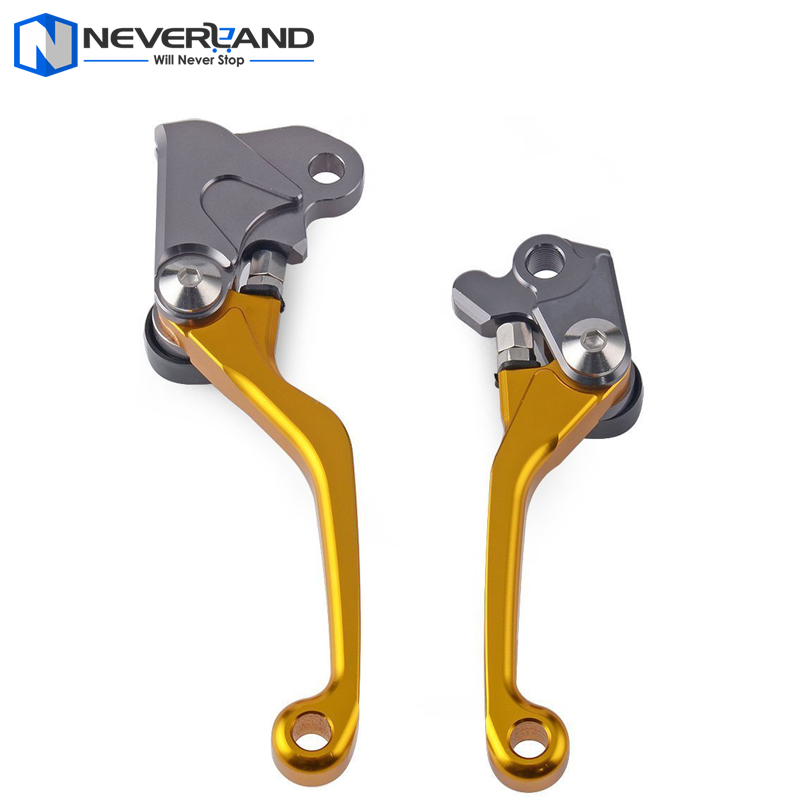 Gold CNC Dirttbike Pivot Brake Clutch Levers for Honda CRF230F CRF 230F 2003 2004 2005 2006 2007 2008 2009 Motorcycle<br><br>Aliexpress