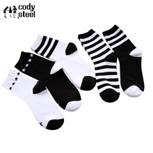 Cody Steel Brand Stripe Socks Womans Famous Fashion Star Socks Girl Business Cotton Casual Socks Long Women 5pairs/lot