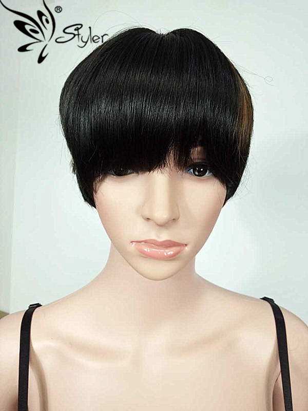 Fashion  Cosplay Short Synthetic  Wig Heat Resistant Hair Women Wigs Beauty Hair <br><br>Aliexpress