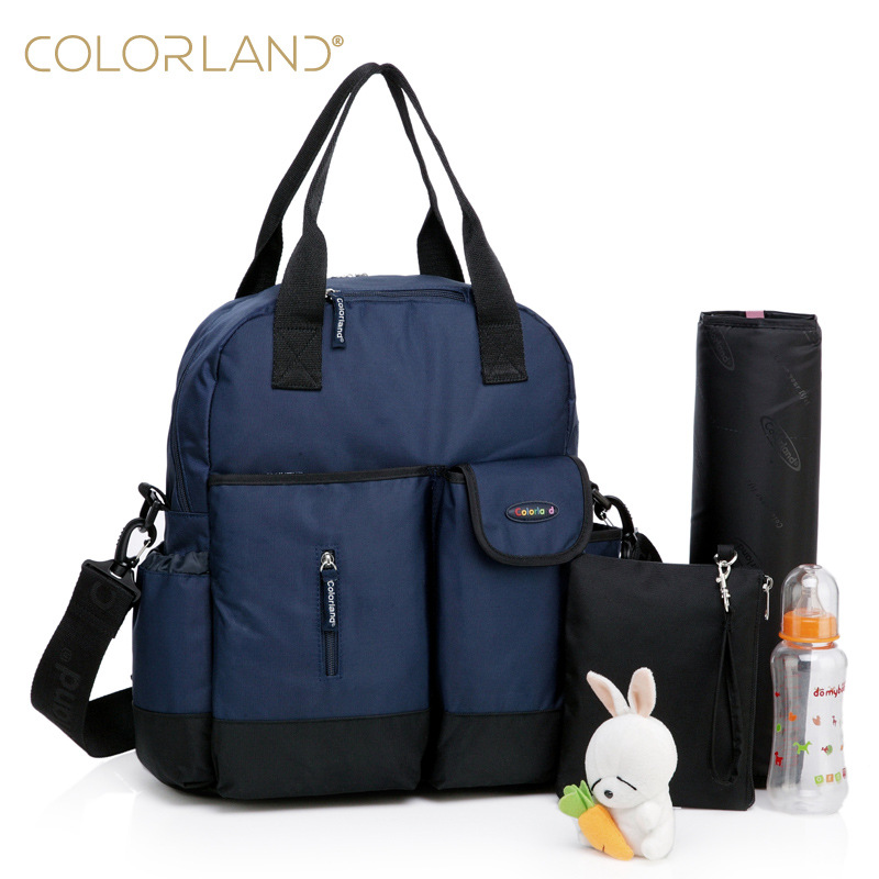 Colorland Diaper Bag Multifunctional Baby Bag Backpack Nappy Bag Stroller Bag Organizer Mommy Maternity 8colors Free Shipping<br>