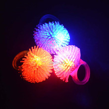 2018 Colorful LED Flashing Finger Rings Blinking Party Soft Light Up Rave Jelly Rings Glow Party Supplies Christmas New Year(China)