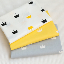 Diy Fabric Twill Cotton Fabric Quilting Baby Cloth Kids Bedding Patchwork Tissue Home Textile Sewing Craft Fabric Crown Printed