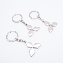 3D Metal Car Logo Keyring Keychain Key Chain Ring for mitsubishi asx outlander lancer Chaveiro Llavero Key Holder Car-Styling