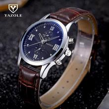Original YAZOLE Men Watch Luxury Brand Watches Quartz Clock Fashion Watch Cheap Sports Dress Wristwatch Relogio Male(China)