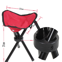 1PC Outdoor lightweight Camping Hiking Fishing Folding Picnic Garden BBQ Stool Tripod Three feet Chair Seat size 22*22*31cm(China)