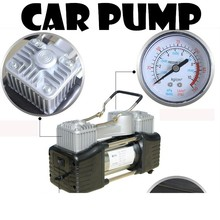 12V car inflator double cylinder pump 150PSI motorcycles bicycles audio pump