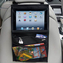 Tablet PC Stand iPad Holder Storage Bag Interior Accessories Car Back Seat Organizer Car-styling Stowing Tidying Universal(China)