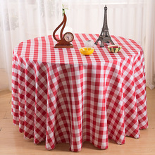 Table Cloth Factory Outlet Grid Plaid Cover Cloth High Quality Multi Size Round Rectangle Table Cloth(China)
