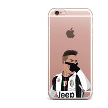 Juventus plastic Football Phone Case for iPhone 6 6s 5 5s SE 7 7Plus 8 8Plus X 10 Paulo Dybala Costa Sport Stars Cover(China)