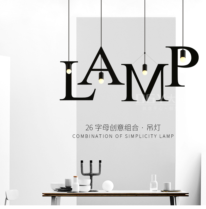 lamps 1 PC Simple Nordic art LED bar pendant lights creative personality Cafe Restaurant lamp bedroom pendant lamp<br>