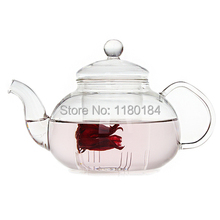 1PC 800ml flower coffee glass tea pot,large blooming chinese glass teapots,heat resistant glass tea pots infuser OL 0007