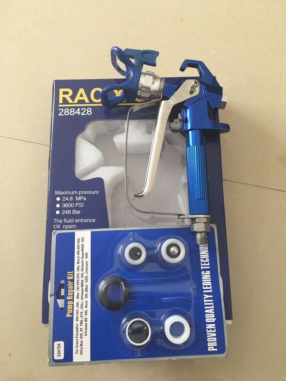 Airless paint sprayer parts Airless paint sprayer gun with pump repair kit for 390 395 490 495 595 airless paint sprayer<br><br>Aliexpress