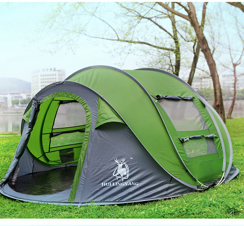 3-4 Person Waterproof Camping Tent Automatic Pop Up Quick Shelter Outdoor Hiking