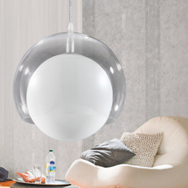 D25CM lamp designer New Modern Clear Glass Shade ball pendant lamp Lighting Fixture home lighting lamps E27 bulbs free shipping<br><br>Aliexpress