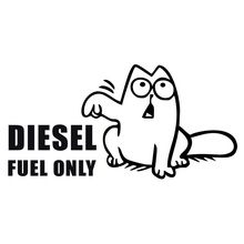 14.5*7.3CM Simon's Cat DIESEL FUEL Funny Humor Vinyl Car Sticker Window Decoration Vinyl Decal C1-4034