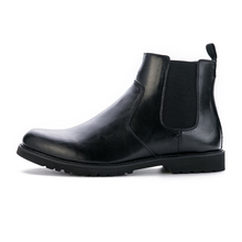 Men's Ankle Chelsea Boots 2016 Winter NEW Man Italian Fashion Black/Brown Round Toe Slip-on Rubber Boots Warm Work Shoes(China)