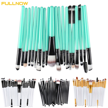 FULLNOW High Quality 20 Pcs Makeup Brushes Set Pro Hair Eyebrow Foundation Brush Cleaner Cosmetics Make Up Brush Set Cosmetics