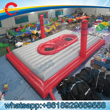 free sea shipping,giant inflatable beach volleyball  bossaball court,inflatable volleyball court with trampoline for adults