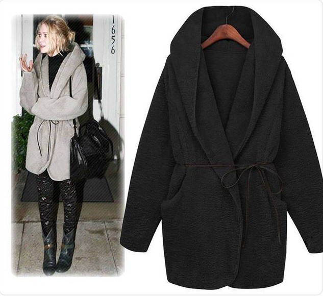 Free Shipping 2013 plush hooded cape coat winter coat thick coatОдежда и ак�е��уары<br><br><br>Aliexpress