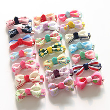 1PCS 2017 Cute Baby Hairgrips Girls Hair Clips Mini Bowknot Hair Accessories Infant Headwear Small Hairpin For Children Barrette