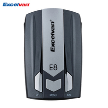 Clear Stock Excelvan E8 Car Radar Detector 360 Degree 16 Band Speed Safety Anti-Police Scanning Advanced Voice Alert Laser LED(China)