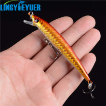LINGYUE Fishing Lure Hard Bait Very Tight Wobble Slow Floating 6g 9cm #6 Treble Hooks Epoxy Coating on Finish Minnow Tackle