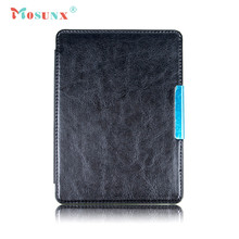 Hot-sale MOSUNX Magnetic Auto Sleep PU Leather Cover Case Touch pen + HD Film For Amazon New Kindle 2016 (8th Generation) 6 inch