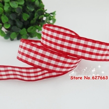 2016 new arrival 1''(25mm) red plaid ribbon diy hairbows freeshipping 50yards/lot