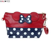 Fashion Print Dot Butterfly Handbag Adorable Cosmetic Storage Bag Girls Lovely Dumpling Makeup Case Ladies Clutch(China)