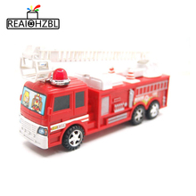 REAIOHZB Children's toys car fire truck set inertia fire truck red gift free shipping Warrior toys for children smile hot wheels