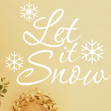 Snow Christmas Wall sticker Decal Lining Waterproof Snowflake Wall Decal Lettering Vinyl Windows Removable