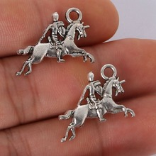 Buy 6pcs 16x23mm Plated Antique Silver Horse Riding Charms Pendant Jewelry Findings Jewelry Making Necklace Bracelet DIY for $0.89 in AliExpress store