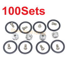 100 Sets 3.0mm Prop Saver Propeller Adapter with Screws Rubber O Rings Electric Brushless Motor Shaft RC Plane Parts(China)