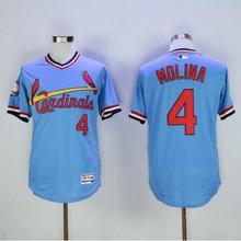 MLB Men's palyer 4 St. Louis Cardinals Yadier Molina Cam Fowler jerseys(China)
