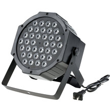 36W 36 LED Stage Light RGB Par Light DMX512 LED Flat DJ Equipment Controller Discos KTV Music Light(China)