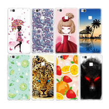 Hot Sale Painted TPU Pattern Case For Huawei Ascend P9 Lite Soft Silicone Print Animal Fruit Protective Phone Bag Cover Shell