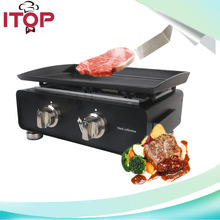 ITOP BP-02 Popular Outdoor Machine Gas Plancha BBQ Grill Griddle Easy to Cook Steak Meat and Other Vegetable(China)