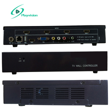 Video Wall Controller 2X2 2X1 1X2 1X4 4X1 1X3 3X1 USB/HDMI/VGA/AV input 4 TV shows a screen splicing free 2PCS 4k hdmi cable(China)