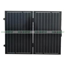 120W 12V PV Folding Mono Solar Panel for Home Outdoor Camping Hiking RV Boat Solar Generators(China)