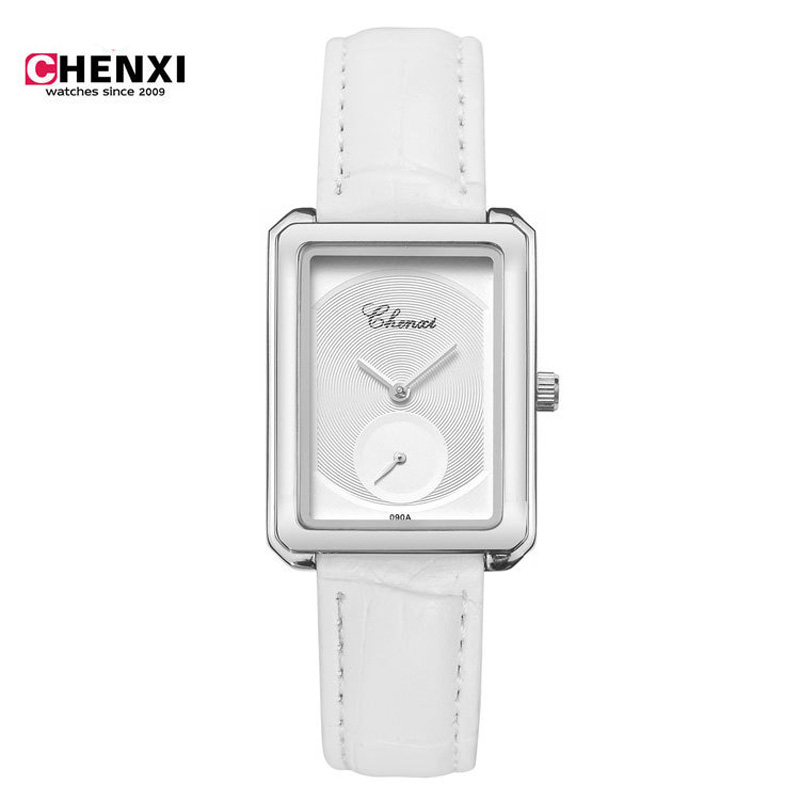 CHENXI Womens Watches Top Brand Luxury Ultra Slim Quartz Watch Women Clock Leather Band Rectangle Hours relogio feminino<br><br>Aliexpress