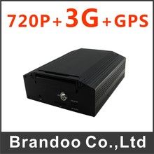 4CH 720P 3G CAR DVR, mobile DVR, bus dvr, with 3G and GPS function,low cost, for bus,taxi,truck,train used(China)