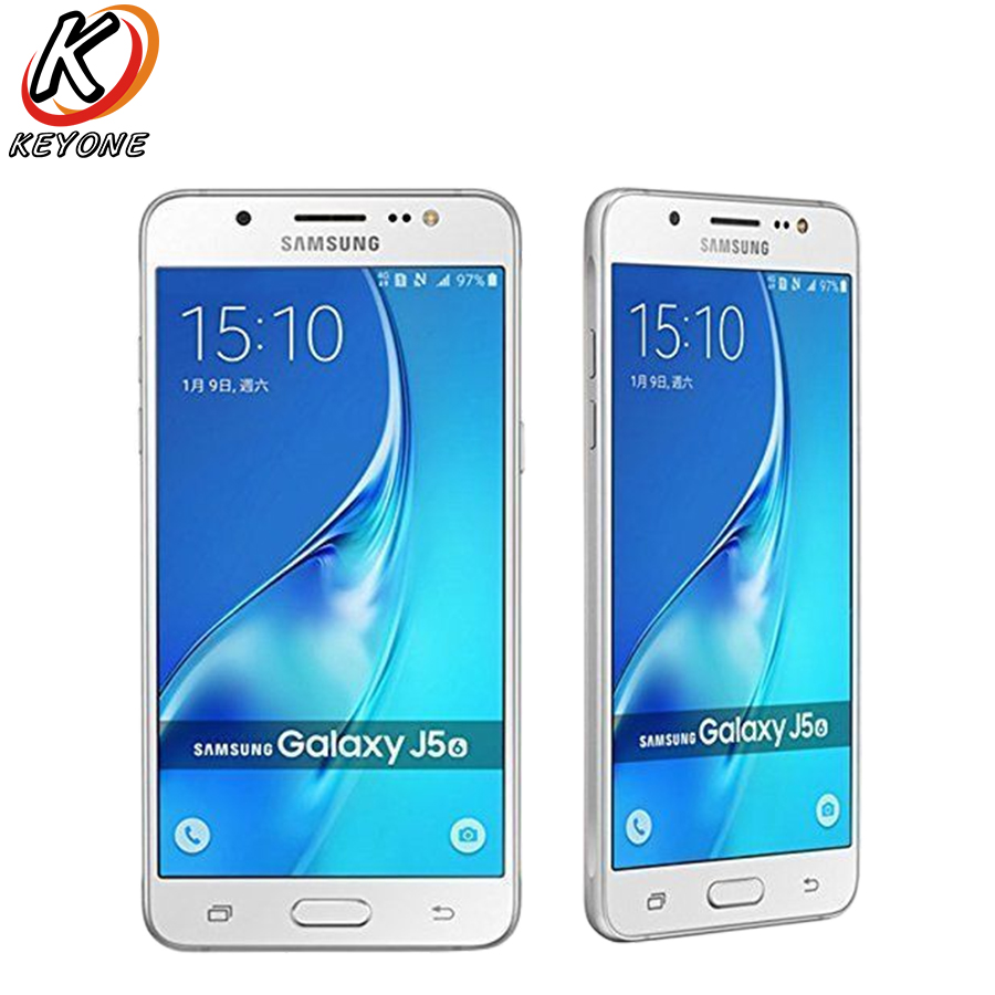 Brand New Samsung Galaxy J5, 2016 J510FN/DS 4G LTE Mobile Phone 5.2 inch 2GB RAM 16GB ROM 13MP Camera 3100mAh Android CellPhone