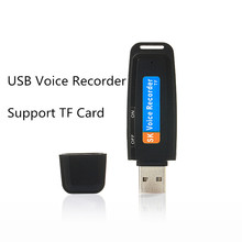 Mini USB Audio Voice Recorder Pen USB Flash Drive with TF Card Slot Max support to 32GB Free shipping(China)