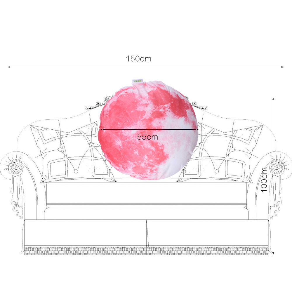 Luminous 3D Moon Pillow