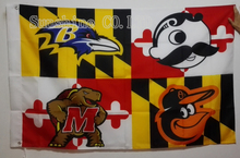Baltimore Ravens Baltimore Orioles Natty Boh Maryland Terrapins Flag hot sell goods 3X5FT 150X90CM Banner brass metal holes