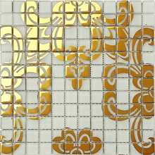 Italy Bisazza style wall decor art design crystal glass puzzle mosaic HMGM2042C for kitchen backsplash hallway dining room wall