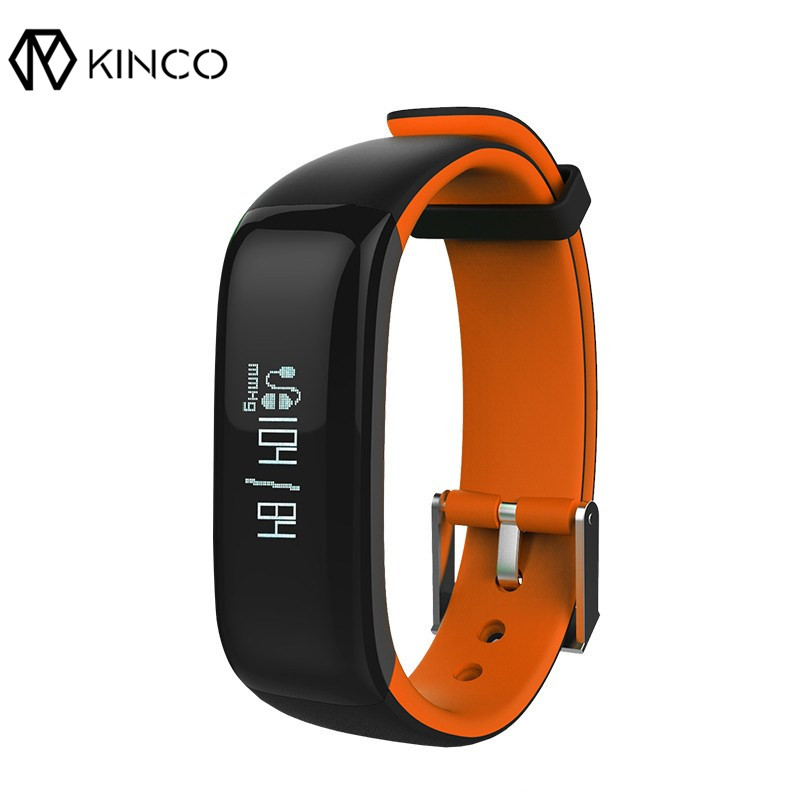 KINCO Sports Smart Bluetooth Bracelet Wristband Heart Rate Blood Monitor Waterproof Watch Call Reminde Health Smart Wristband(China)