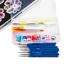 Durable and practical Stainless Steel Crochet hooks Needles Stitches knitting Craft Case crochet set in Case Yarn Hook(China)